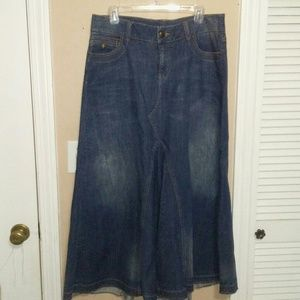NWT LANE BRYANT Long Denim Skirt Size 14